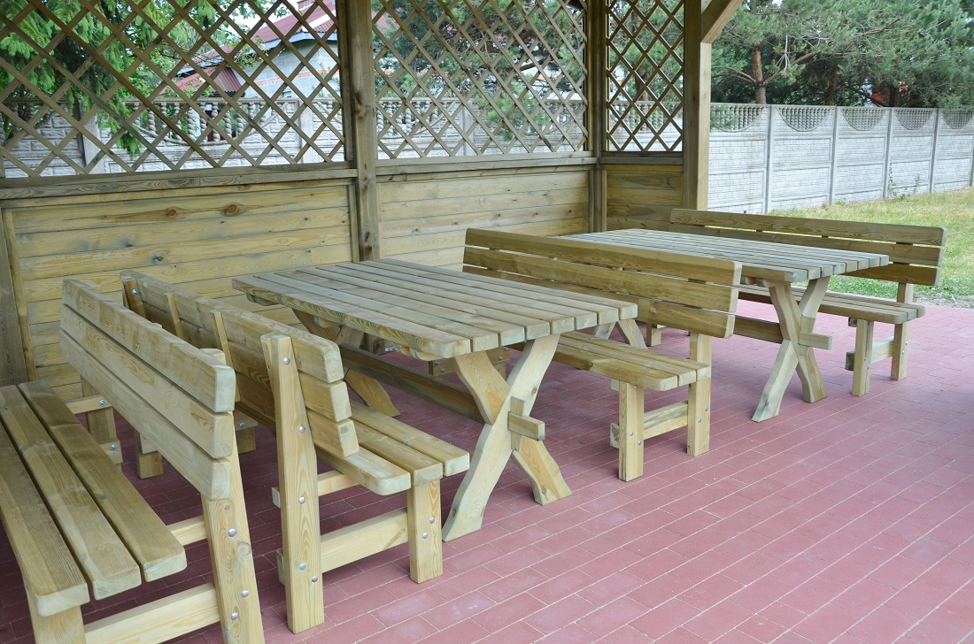 główna  Oferta  mała architektura  Meble ogrodowe drewniane