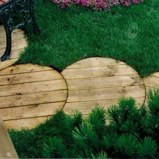 Podesty drewniane okrągłe