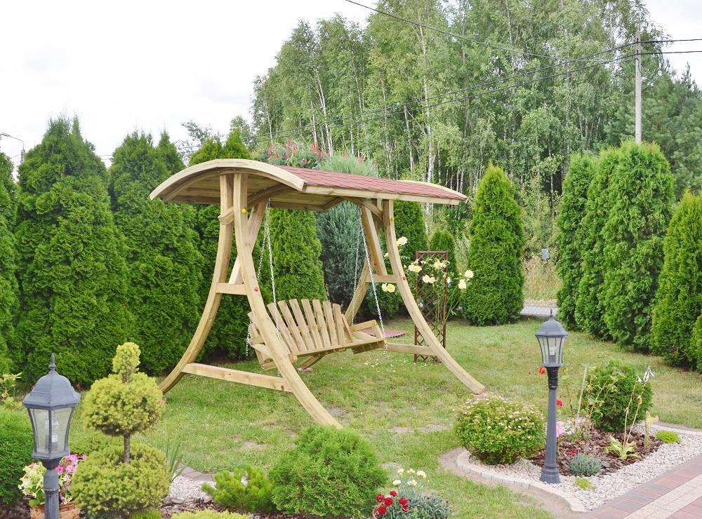 Huśtawki drewniane
