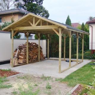 Wiaty i garaże drewniane