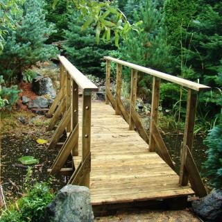 Mostek drewniany predłużony