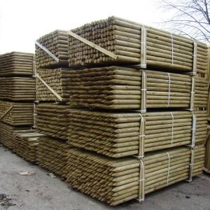 palisady drewniane