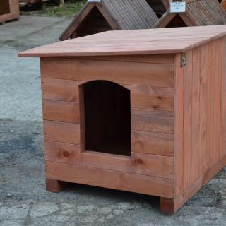 Buda dla psa z dachem jednospadowym