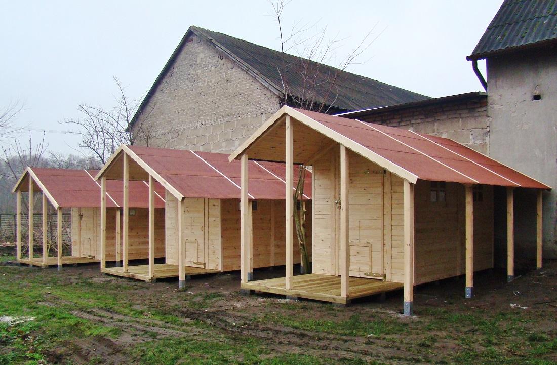 Domki drewniane dla psów