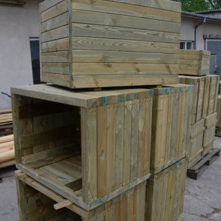 Donice drewniane nietypowe