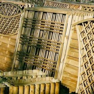 Płoty drewniane różnego typu